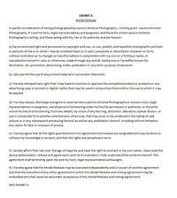 Modeling agency model portfolio model release